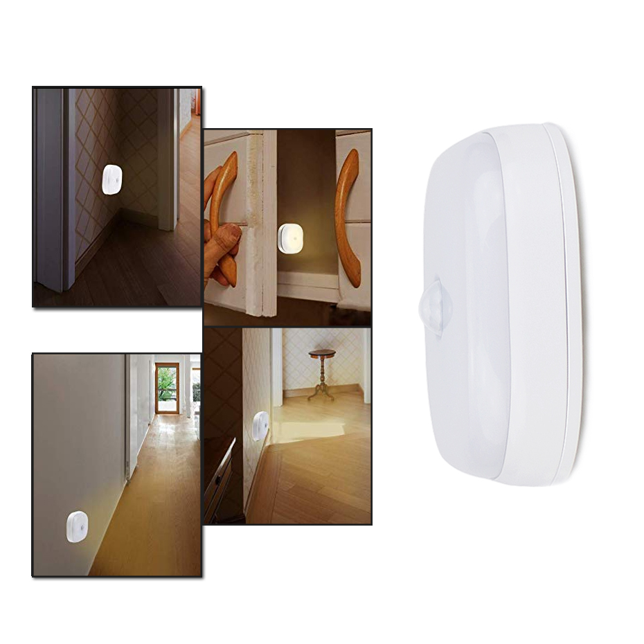 10 LEDs Motion Sensor Night Lamp Battery-powered Warm White Cold White LED Nightlight For Bedroom Kitchen Hallway Stairs