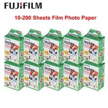 Fujifilm Instax Mini-papel fotográfico instantáneo, película blanca Original para Fuji Instax Mini 9 8 25 90 7S, 10-200 hojas