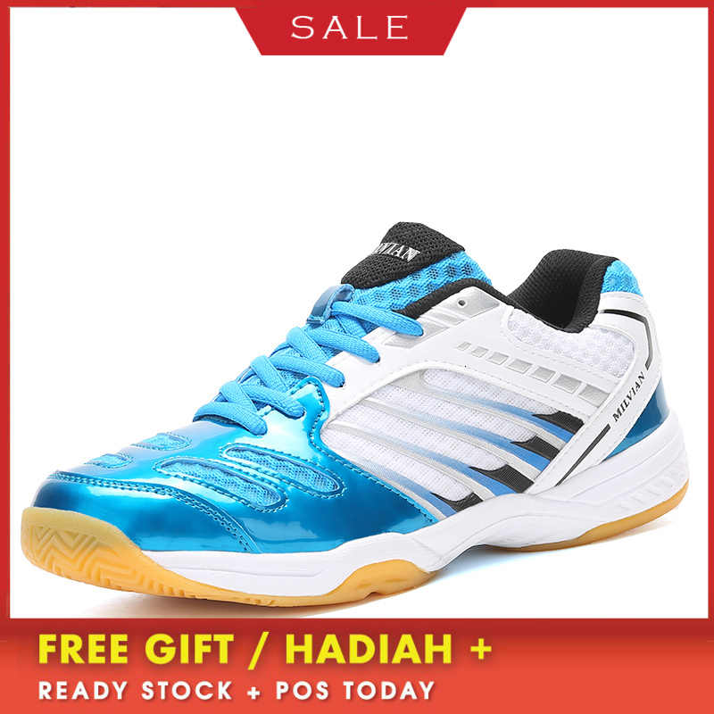 BOUSSAC Men Badminton Shoes High Quality Anti-Slippery Training Professional Sneakers Male Big Size Sport Badminton Shoes