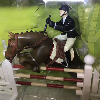 1/18  pvc  figure  model  toy  racing  horse + rider