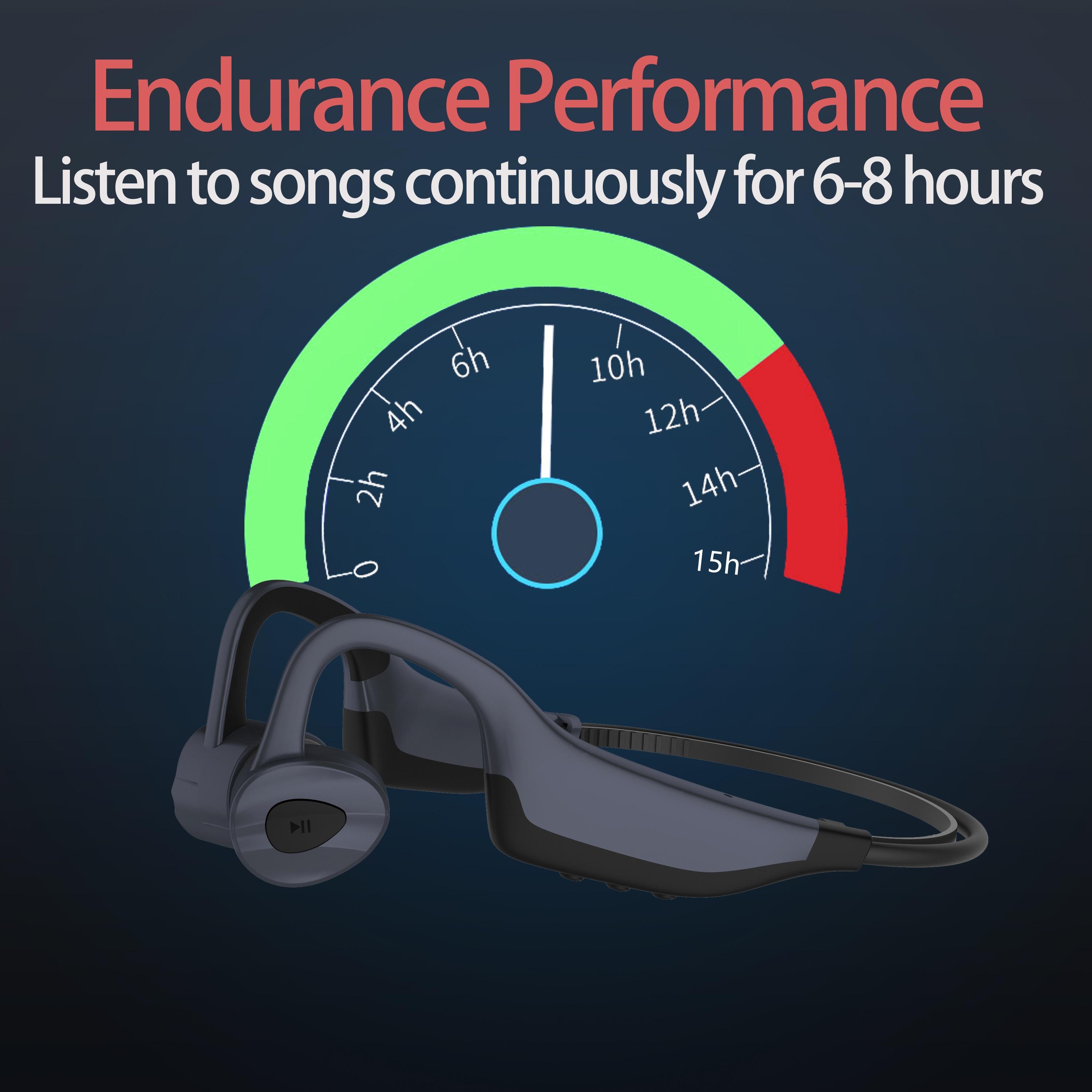 Profissional natação fone de ouvido com memória