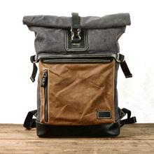 Ретро холщовый рюкзак мужская большая Вместительная дорожная
