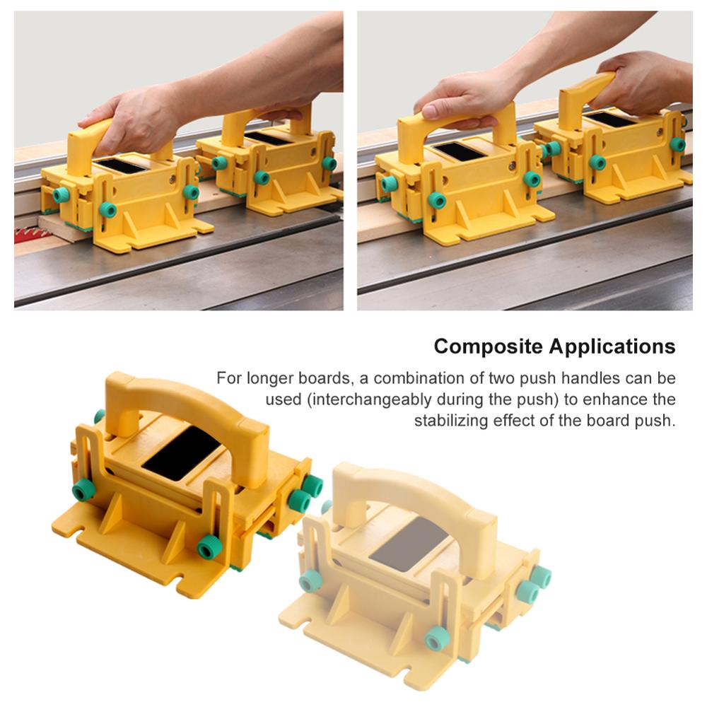 3D Safety Pusher Wood Cutting Saw Pusher Woodworking Flip Table Saw Vertical Milling Planer Saw Pusher Safety Feeder Flat Planer