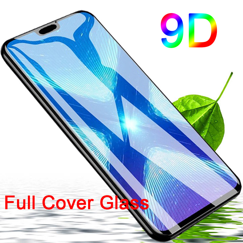 9D Black Screen Protector For Honor 8C 8A 6C Pro Tempered Glass For Huawei Honor 7A DUA L22 Protective Glass On Honor 7C 5.7