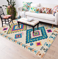 Повседневный разноцветный геометрический напольный коврик в богемном стиле в этническом стиле для спальни, кухни, гостиной, ковер для ванн...