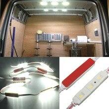Novo 12v módulos led lâmpada luz kit lwb interior branco brilhante para vw/van/sprinter/ducato/relé de trânsito