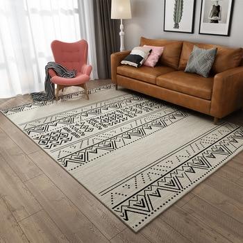 Nordic Living Room Carpet Modern Minimalist Bedroom Sofa Bed Head Cushion Moroccan Style Rug Living Room Bathroom Carpet Rug Leather Bag