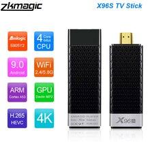 Приставка Смарт ТВ X96S, 2 + 16/4/32 ГБ, Android 8,1, Wi Fi, Bluetooth