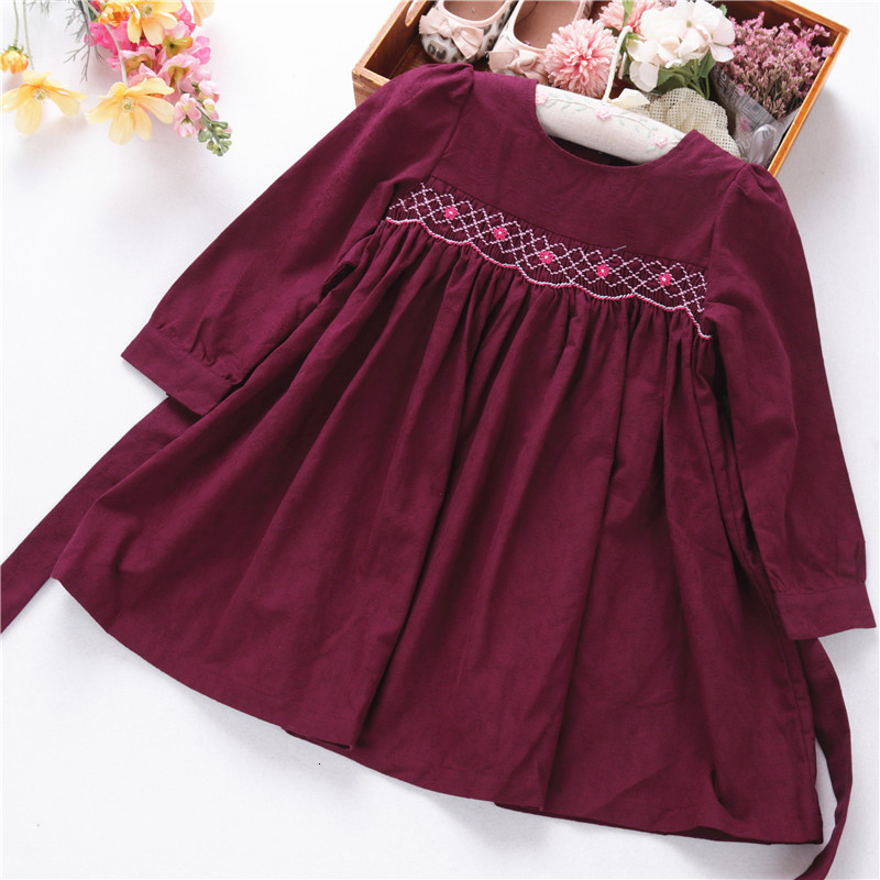 Toddler Clothes Mini Lace Skirt Long Sleeve Sundress Baby Girls Floral Dress