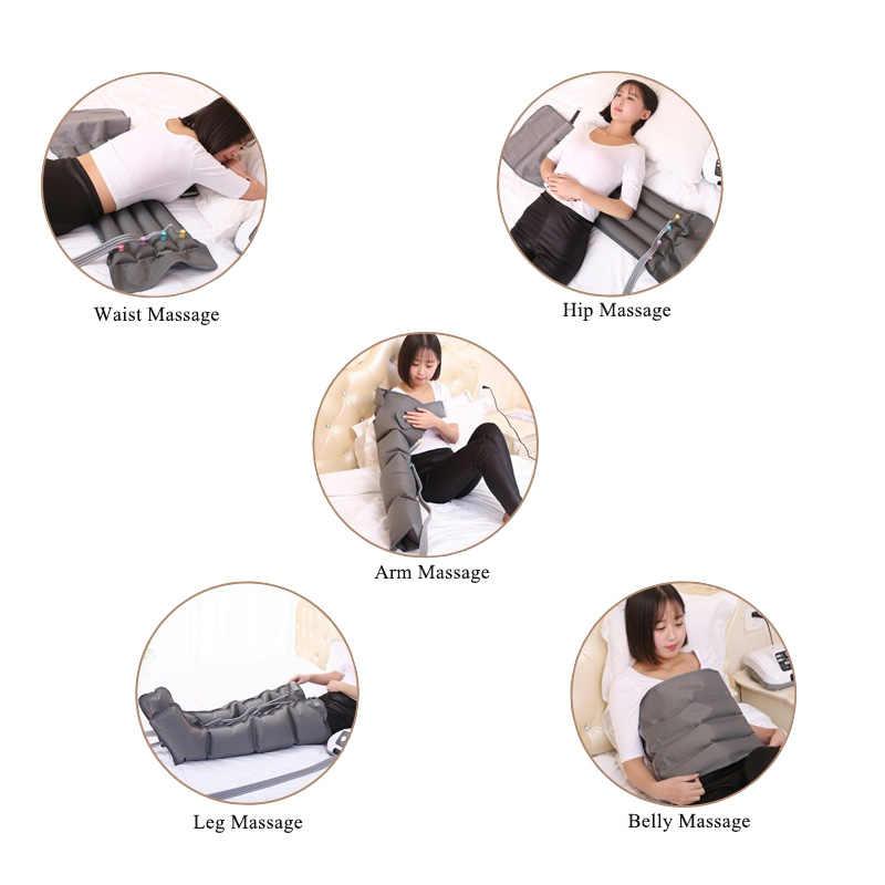 Elektrische Luft Kompression presoterapia Fuß Massager Taille Bein Arm luftdruck massager lymphatische massage maschinen