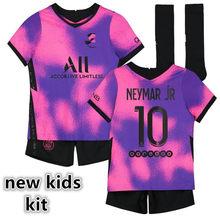 MBAPPE new men kids kit vertopi MARQUINHOS KIMPEMBE NEYMAR JR DI MARIA FLORENZI UAN BERNAT 20 21 camicia bambino camicia DI alta qualità