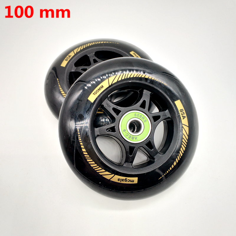 free shipping scooter wheel 100*24 mm 2 pcs / lot bearings ABEC-9 110*24 MM