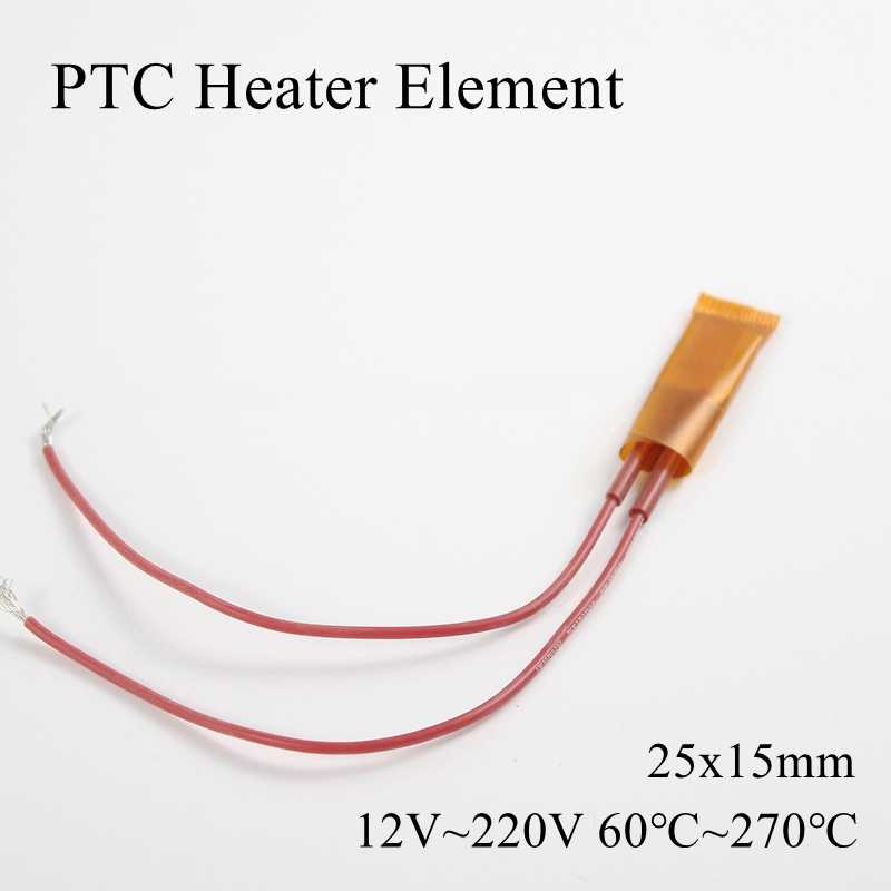 25x15mm 12V 24V 110V 220V PTC Heizung Element Konstante Thermostat Isolierte Thermistor Keramik luft Heizung Chip Rohr Film 25*15mm