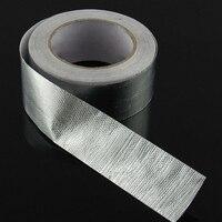 Firewall Heat insulation tape Hoods Hoses Barrier 48mmx25m Aluminum foil Doors Roll