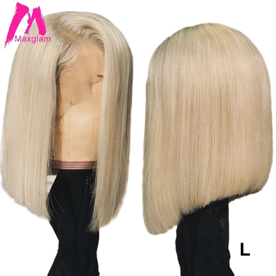 Blonde 613 Lace Front Wig Ombre T1B/613 Brazilian Remy Short Long Bob Lace Front Human Hair Wigs For Afro 13x4 130% Low Ratio