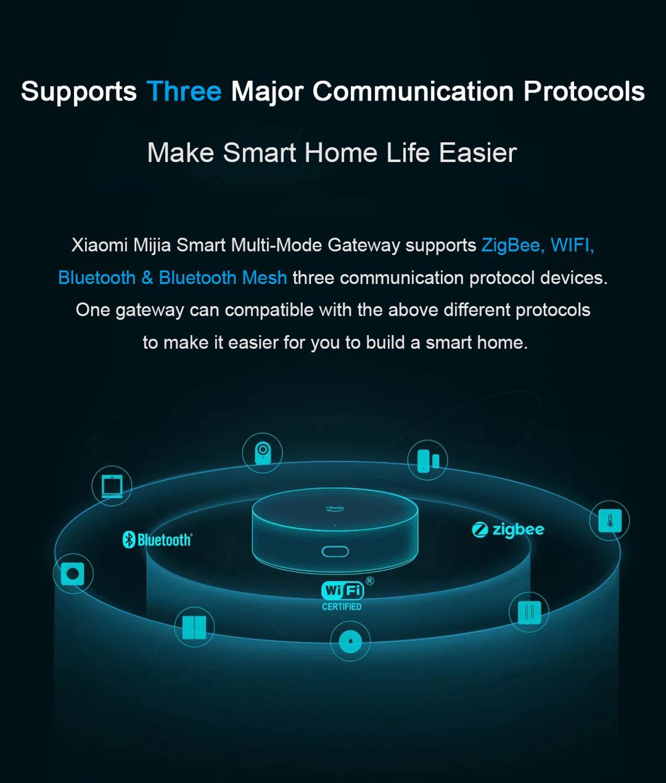 cheapest Xiaomi Smart Multifunctional Gateway 3 WiFi Remote Center Control RGB Light Home Security Device Support Aqara Apple Homekit APP
