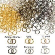 200 pçs/lote diâmetro 3mm-12mm metal saltar anéis de divisão conectores diy colar brinco acessórios para fazer jóias descobertas