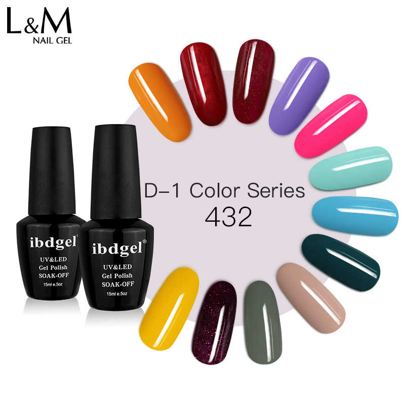 Ibdgel Zomer Kleur Uv Nail Gel Pretty 432 Kleur Top Coat Gel Varnish Soak Off Nail Art Gel Nagellak manicure Gratis Verzending
