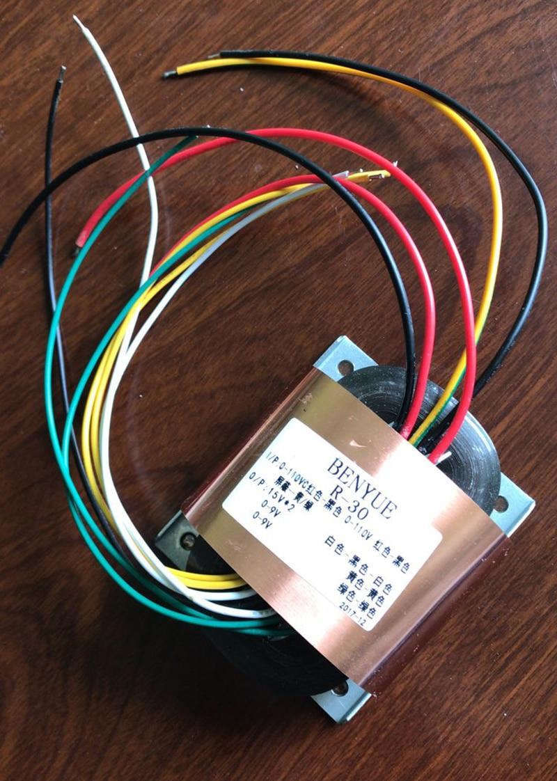 Transformador r30 dedicado decodificador es9018 40w