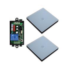 Transmisor de Receptor de Control de luz remoto inalámbrico, relé de radio RF de 220 V y 10 A CA, Interruptor táctil de pared, para habitación y escalera