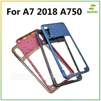 Middle Frame For Samsung Galaxy A7 2018 A750F SM-A750 Middle Frame Panel Rear Plastic Housing Case Panel Replacement tft a750 lcd for samsung galaxy a7 2018 lcd sm a750f a750f a750 display with frame touch screen digitizer replacement parts