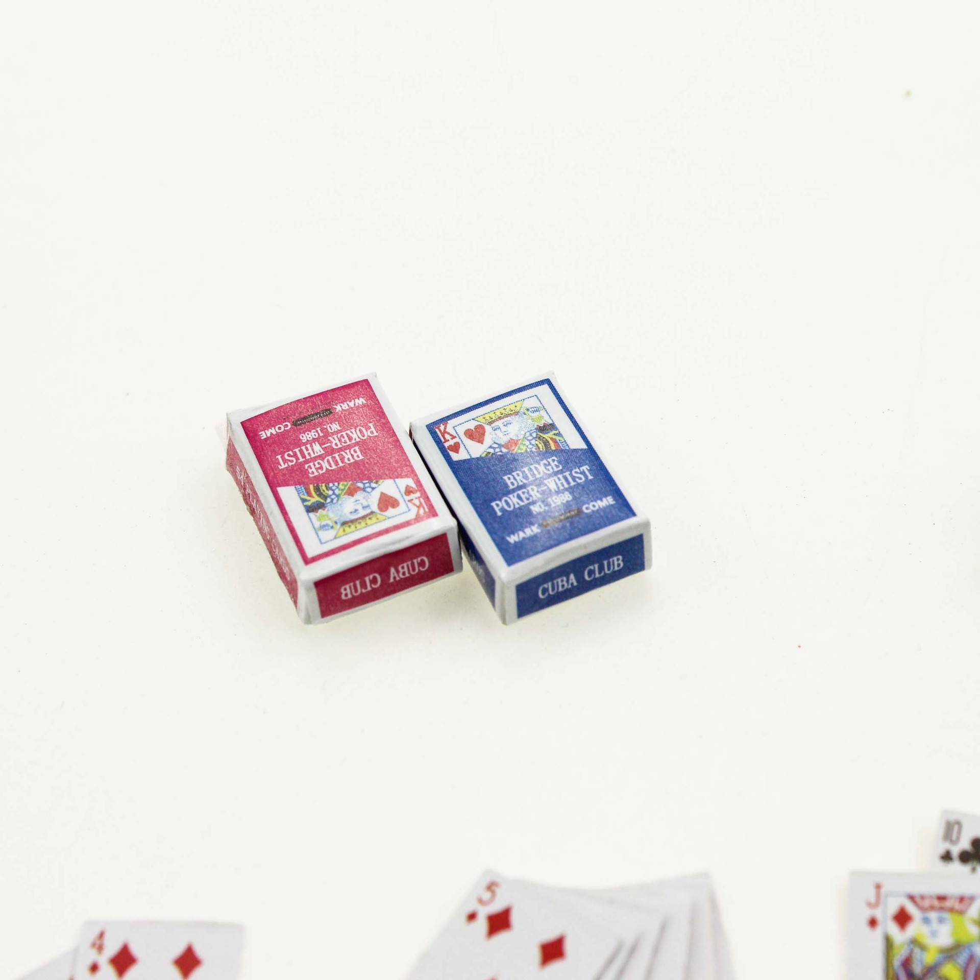 1Set 1:6//1:12Dollhouse Miniatures Accessories Playing Card Poker Home Barvn