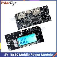 Dual USB 5V 1A 2.1A Mobile Power Bank 18650 caricabatterie PCB modulo di alimentazione accessori per telefono DIY nuova scheda modulo LCD a LED
