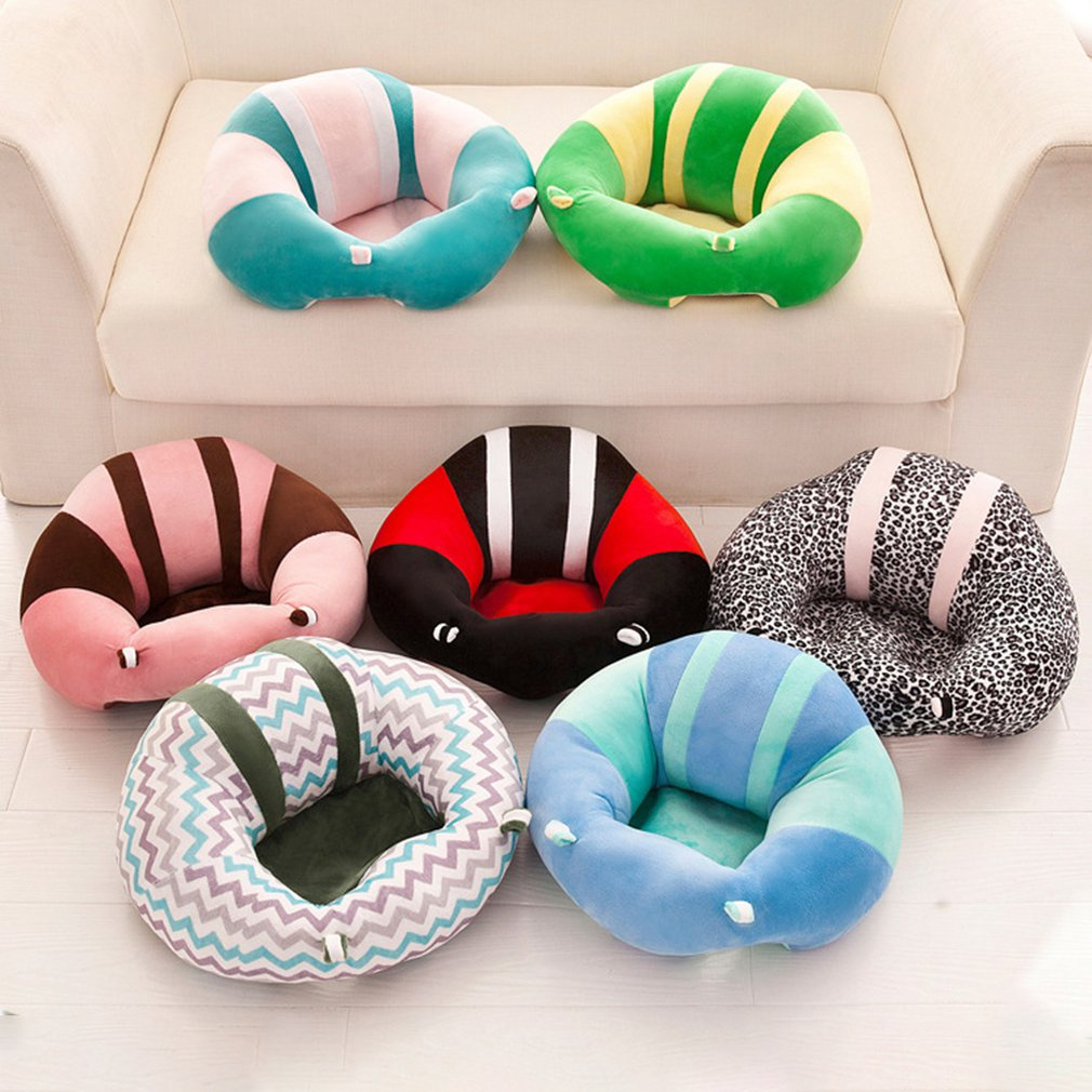 Baby Support Seat Plush Soft Baby Sofa Infant Learning To Sit Chair Keep Sitting Posture Comfortable For 0-3 Months Children