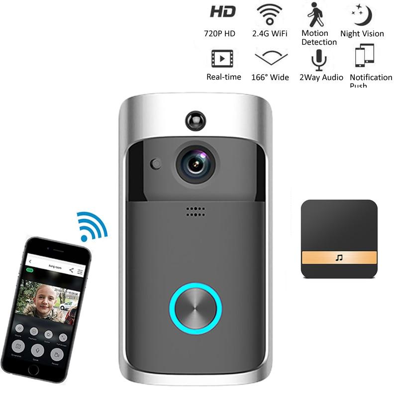 Campainha inteligente câmera wi fi sem fio chamada intercom vídeo-olho para apartamentos campainha da porta anel para telefone câmeras de segurança em casa