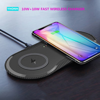 2 in 1 Dual 10W Qi Wireless Charger For iPhone 11 Pro X XS Max XR Samsung S10 S9 Note 10 9 Fast Wireless Charging Dock Pad|Wireless Chargers| |  -