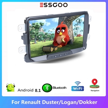 Essgoo Car Radio Autoradio 2 din Android 8.1 For Renault Sandero Duster Logan Dokker 8'' Car Multimedia Player GPS Navigation image