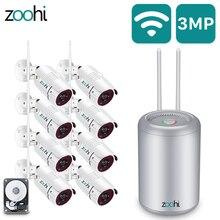 Zoohiกลางแจ้งWifi Securityกล้องชุด1080P 8CHกันน้ำIP66 Night Visionวิดีโอไร้สายการเฝ้าระวังกล้องชุด
