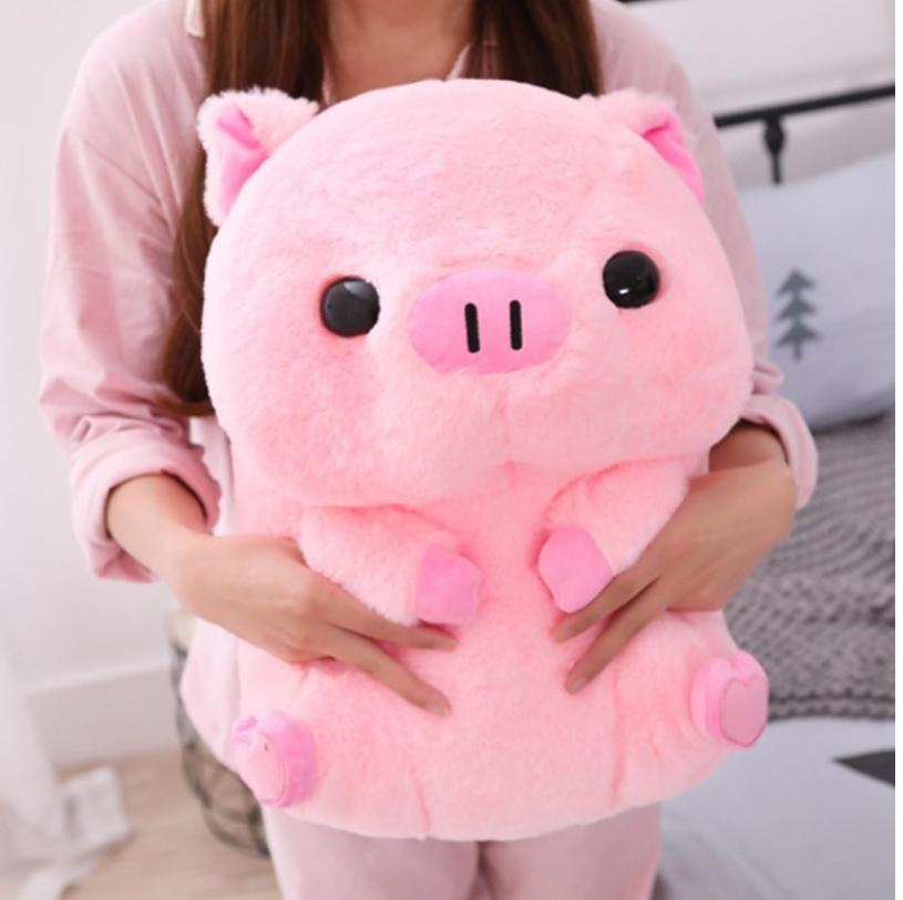 Soft Pig Big Doll 40cm Fat Round Pig Plush Toy Stuffed Animals Doll Baby Piggy Kids Appease Pillow For Girls Lover Chrismas Gift