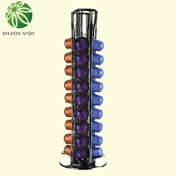 실용적인 커피 캡슐 보관 포드 홀더는 40 네스프레소 캡슐에 적합합니다. 디스펜스 타워 스탠드 soporte capsulas nespresso