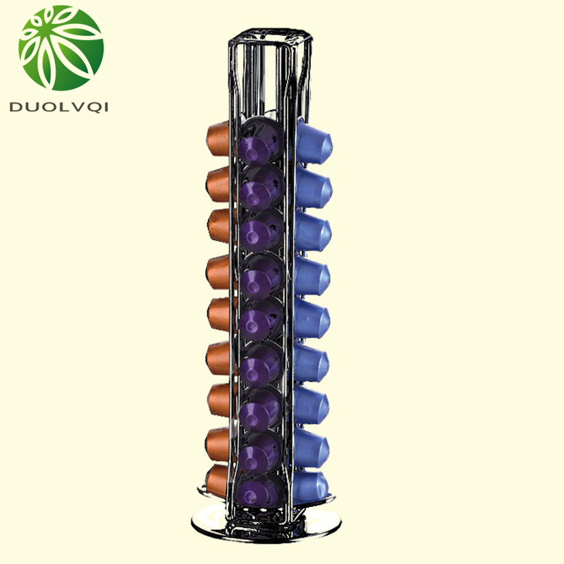 Practical Coffee Capsules Storage Pod Holder Fits For 40 Nespresso Capsules Dispensing Tower Stand Soporte Capsulas Nespresso