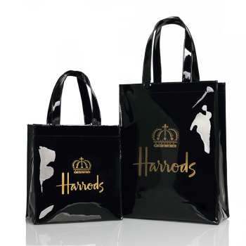 London Style PVC Reusable Shopping Bag Women's Eco Friendly Small Signature Shopper Waterproof Handbag Shoulder - discount item  30% OFF Women's Handbags