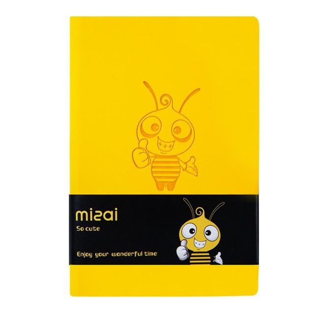 2020 Agenda Planner Organizer Kawaii Bee Notebook and Journal Cute A7 Diary Note Book Weekly Monthly Plan School Travel Handbook 5