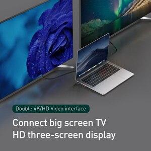 Image 2 - Baseus 11in1 متعدد USB C HUB نوع C إلى HDMI VGA RJ45 منافذ متعددة USB 3.0 60 واط الخائن لماك بوك برو عالية السرعة USB C الطاقة محور