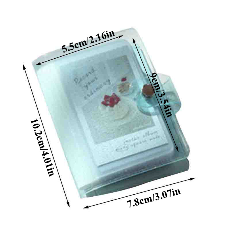 Album Photo couleur gelée pour Mini carte Photo autocollant Album Mini Album Photo Photos Album Instax porte-carte paillettes transparentes