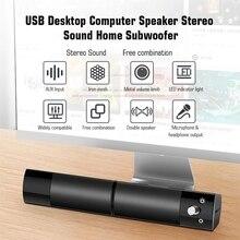 V 117 USB Desktop Altoparlante Del Computer Suono Stereo di Casa Subwoofer Mini Altoparlante con 3.5mm Audio Plug per DVD TV PC del computer portatile