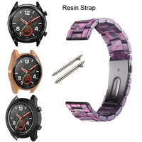 22mm Bracelet Watchstrap For Huawei Watch GT 2 Pro 2 Classic Active 46mm Honor Dream Magic Watchband Smartwatch Resin Straps