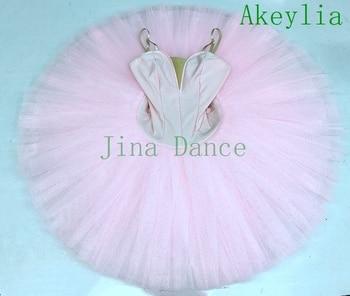 Women Pink Platter Professional Tutu white Ballet Costume Stage Pancake Tutu black Classical Ballet dress Adult yellow недорого