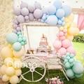 Matte Macaron Pastel Balloon Arch Kit Unicorn Rainbow Kids Baby Birthday Party Balon Garland Set Bridal Wedding Christening