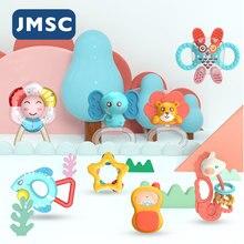 JMSC 7 ~ 13 шт голосовые безопасные детские игрушки, животные, погремушки, пустышка для рук, Jingle Shak, прекрасный колокольчик, Прорезыватель для но...