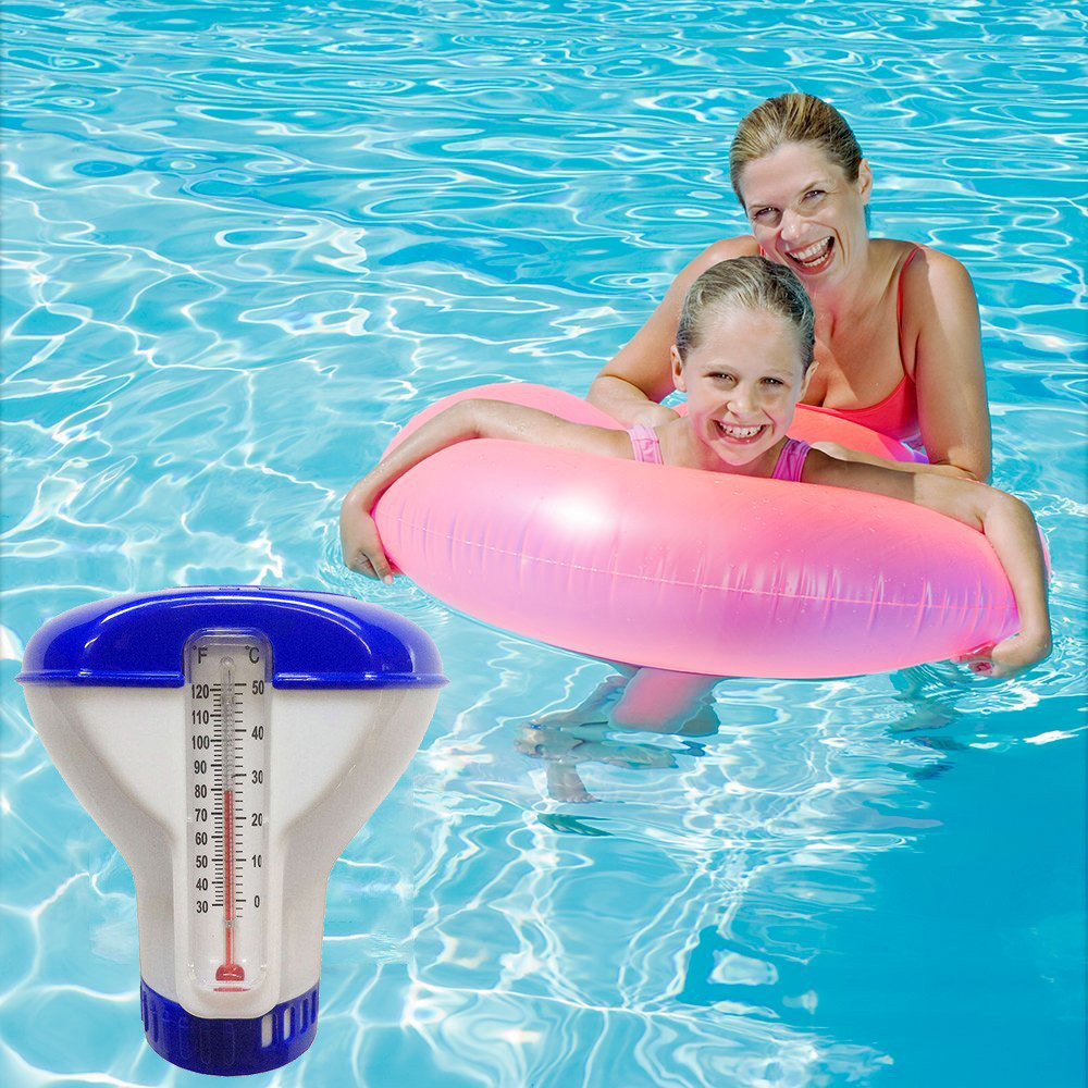 Pool Supply Town Floating Chlorine And Bromine Tabs Dispenser Automatic Applicator With Thermometer Accessories D5