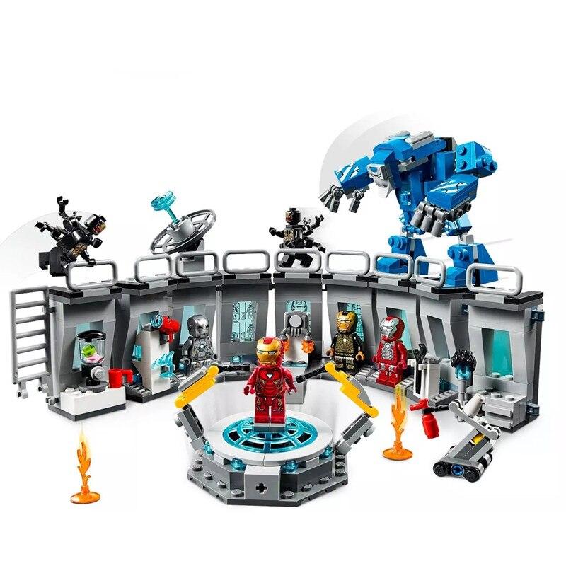 SuperHeroes Iron Man Sets Building Blocks Compatible  Marvel Avengers Endgame Super Heroes Brick Toys For Children