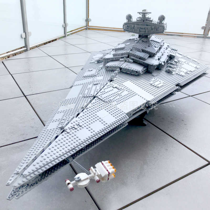 In Voorraad 75252 Star Wars Imperial Star Destroyer Officer & Crewmember Figuur 4796 Pcs Bouwstenen Bakstenen Speelgoed Starwars 81098
