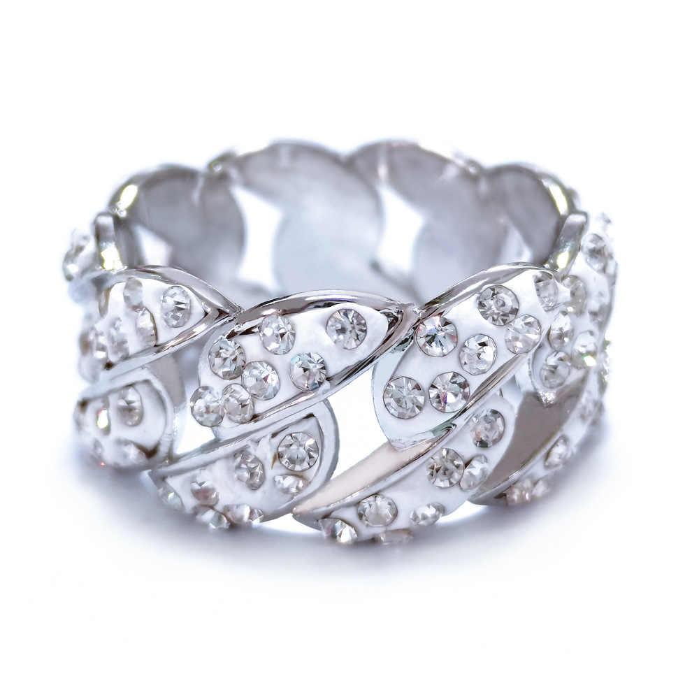 Модные стразы, циркониевое кольцо для девочки, обручальное, юбилейное ювелирное изделие, аксессуары, золото/серебро, Трендовое женское кольцо