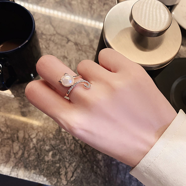 Ins Tide Adjustable Stainless Steel Rings For Women Simple Temperament Engagement Wedding Rings Fashion Jewelry Wholesale 2020