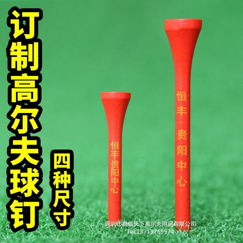 Golf Tee Golf Nail Maple Ball Tee Peg Brand Logo White